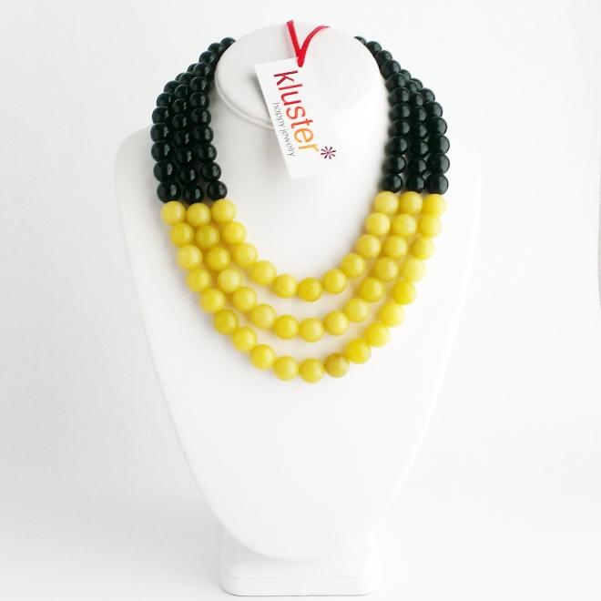Lemon Black Statement Necklace