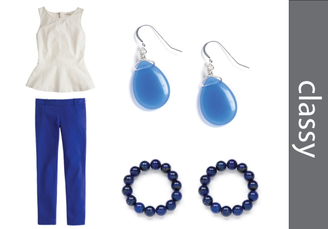 UK Fans Blue and White Outfit