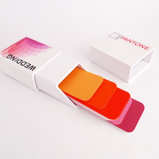 Pantone Cards in Red Orange Purple