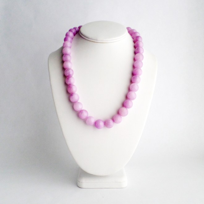 Purple Jade Necklace from Kluster Happy Jewelry