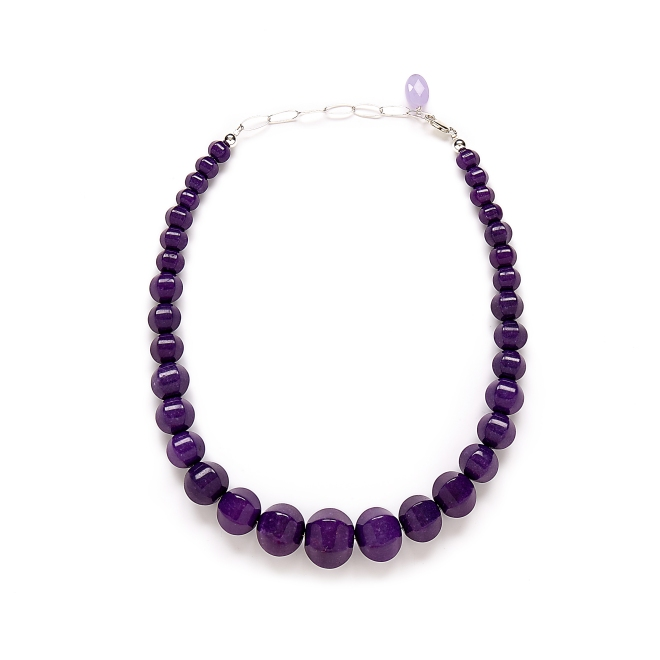 Purple Jade Necklace by Kluster Shop