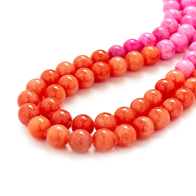 Peach Pink Necklace Kluster Happy Jewelry