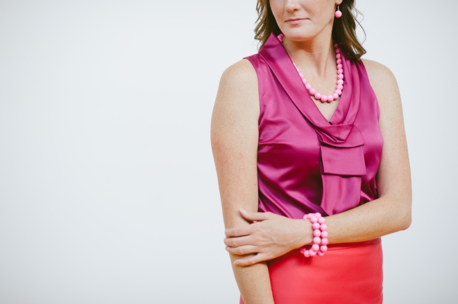 Pink Necklace from Kluster Happy Jewelry