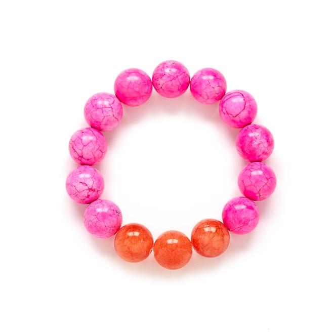 Hot Pink Coral Orange Bracelet
