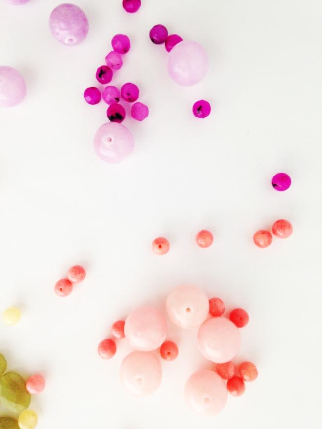 Pink Purple Coral Gemstone Beads