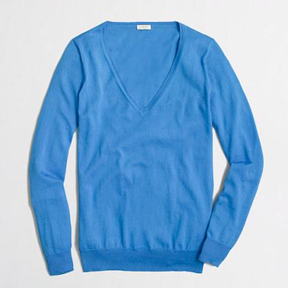 Blue V Neck Sweater J.Crew Factory