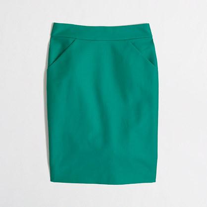 J.Crew Emerald Green Pencil Skirt