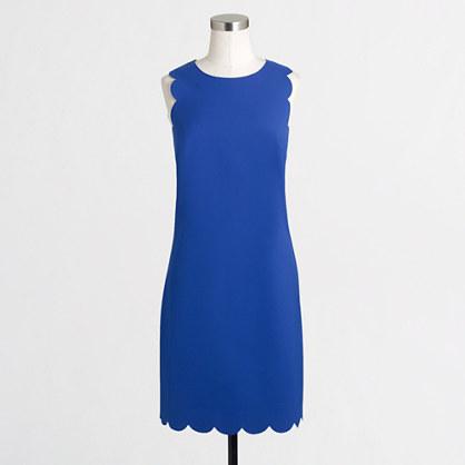 Blue Scallop J.Crew Dress