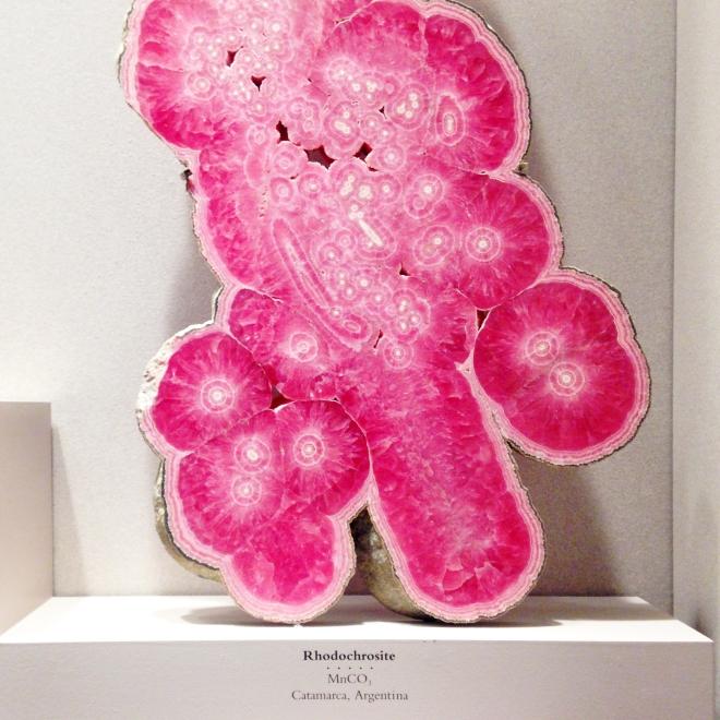 Pink Rhodochrosite Gems at Smithsonian Museum