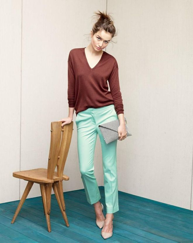 Brown Turquoise J Crew Outfit