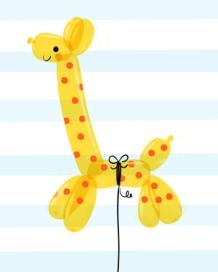 Giraffe Balloon Art Print