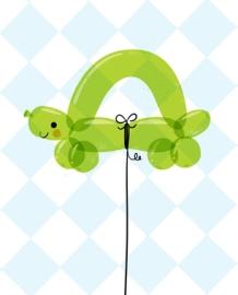 Kids Room Turtle Balloon Art
